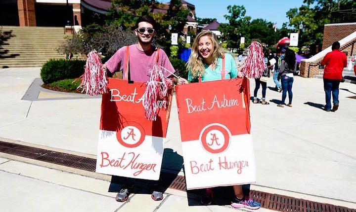 Beat Auburn Beat Hunger can costumes